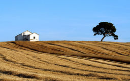 House on a Spanish Hill. White House atop a hillside in Andalusia Stock Photography