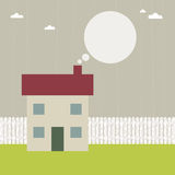 House with speech bubble Stock Photo