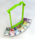 House spending tax money IMU euro banknotes Stock Image
