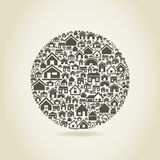House a sphere Royalty Free Stock Photography