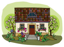 House in spring Stock Images