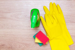 House spring cleaning concept. Cleaning products Stock Photos