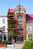 House in the square in Golub-Dobrzyn. House in the old town of Golub - Dobrzyn (Poland Stock Image