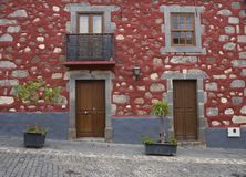 House in Sta Brigida town in Gran Canaria Stock Photography