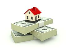House on the stack of dollars Stock Photo