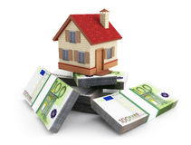 House on a stack of Euro Stock Images