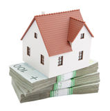 House on stack of polish zlotys Stock Photography