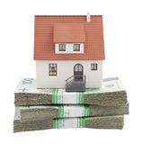 House on stack of polish zlotys Stock Photo