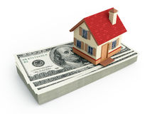House on a stack of U.S. dollars Stock Photography
