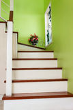 House Stair. With wooden tread Stock Photography