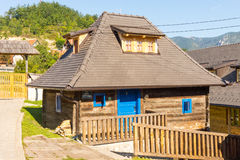 The house and the stairs on the hillside in Kusturica Drvengrad in Serbia royalty free stock photography