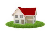 The house stands on the grass Stock Photography