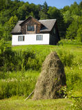The house stands on the hill. Royalty Free Stock Photo