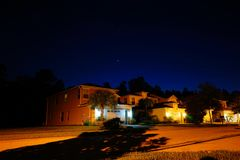House and star. House at night and star, taken in Tampa Stock Image