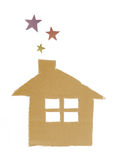 House with stars Stock Photography