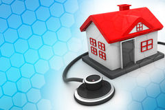 House with stethoscope Stock Photo