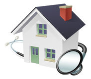 House and Stethoscope Concept Royalty Free Stock Photography