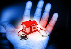 House and stethoscope Stock Photo