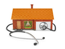 House and stethoscope Stock Photography