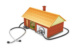 House and stethoscope Royalty Free Stock Images