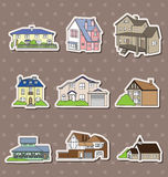 House stickers Royalty Free Stock Photography