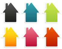 House stickers collection Royalty Free Stock Image