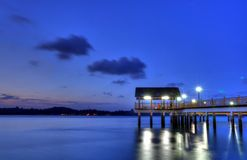 House on Stilts. A pavilion on stilts where fishermen seek shelter when fishing Royalty Free Stock Images