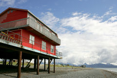House on stilts Royalty Free Stock Photo