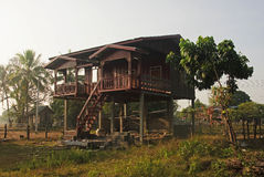 House on stilts in Laos Royalty Free Stock Image