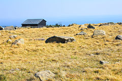 House and stones on the mountain Brocken Stock Images