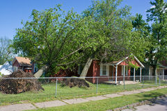 House with Storm Damage Royalty Free Stock Photo