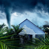 House and storm Stock Image