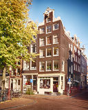 House and street in Amsterdam royalty free stock images