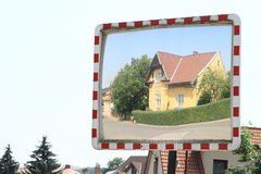 House in street mirror Stock Image