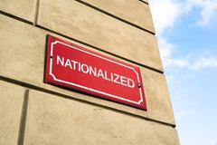 House in the street is nationalized royalty free stock image
