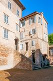 House in a Street of Urbino Stock Image