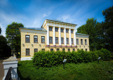 House in style of classicism. Day light, outdoors shot Royalty Free Stock Photos