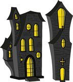 House in the style of Halloween. Vector illustration Royalty Free Illustration