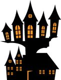House in the style of Halloween. Vector illustration Stock Illustration