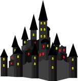 House in the style of Halloween stock illustration