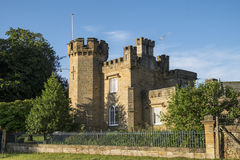 House styled as a castle in Peak District, UK Stock Photos