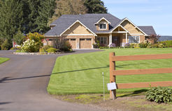 House in a suburb in Canby Oregon. Royalty Free Stock Photography
