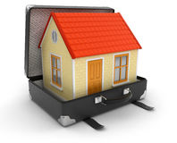 House in suitcase Stock Photos
