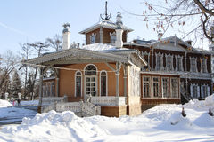 The house on the Sukachev's manor. Historic house Museum, located on the Sukachev's manor, Irkutsk Royalty Free Stock Photo