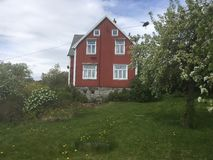 House. Summer house by the sea in Norway Royalty Free Stock Photography