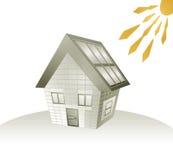 House and sun energy Stock Photos