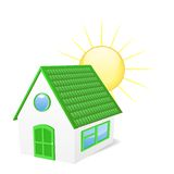 House with sun. Vector illustration Royalty Free Stock Image