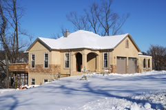 House on a sunny winter day Royalty Free Stock Images