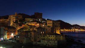 House in sunrise. Part of the coast of Genoa Royalty Free Stock Photos