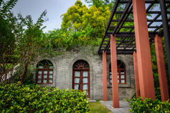 House. Surrounded by green trees and a time of the republic of China architectural style of the house Stock Photo